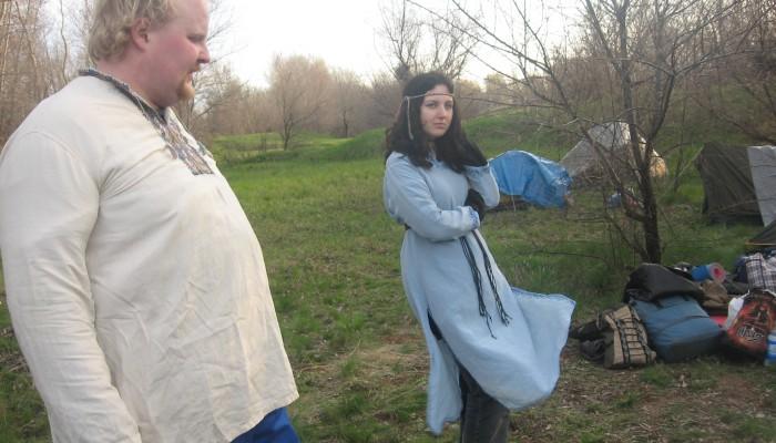 Багыр и Наташка на ветру
