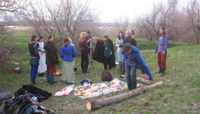 Бытовой лагерь на Бельтайне 2007
